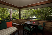 deluxe rainforest accommodation with ocean views